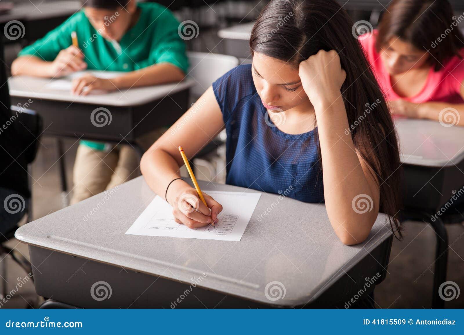 接受考试在高中