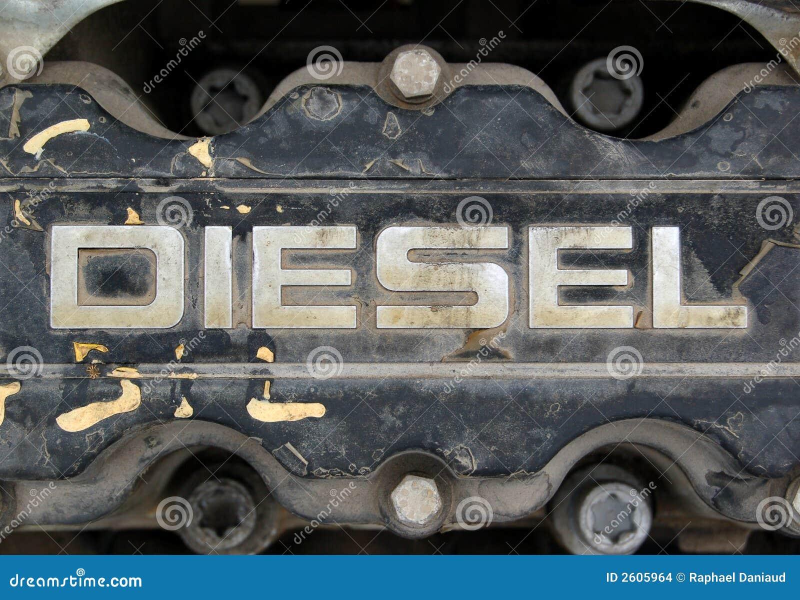 接近的柴油引擎