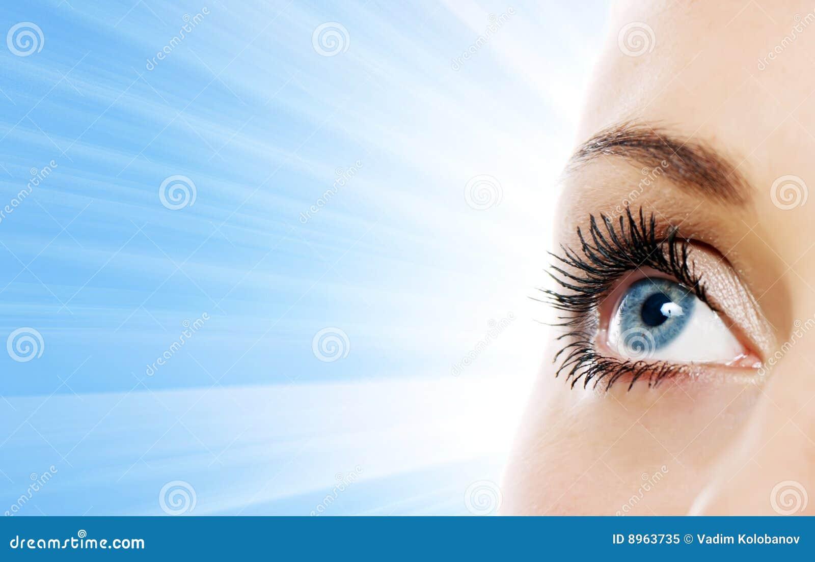 接近的眼睛视图妇女