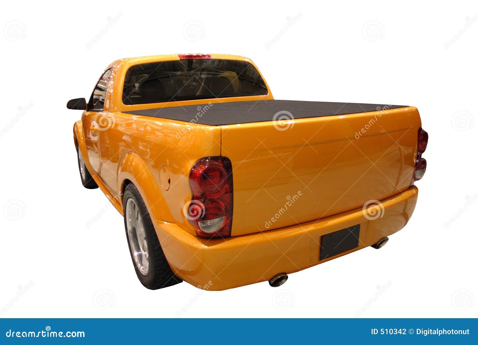推托查出在装货公羊后方运动的卡车视图白色