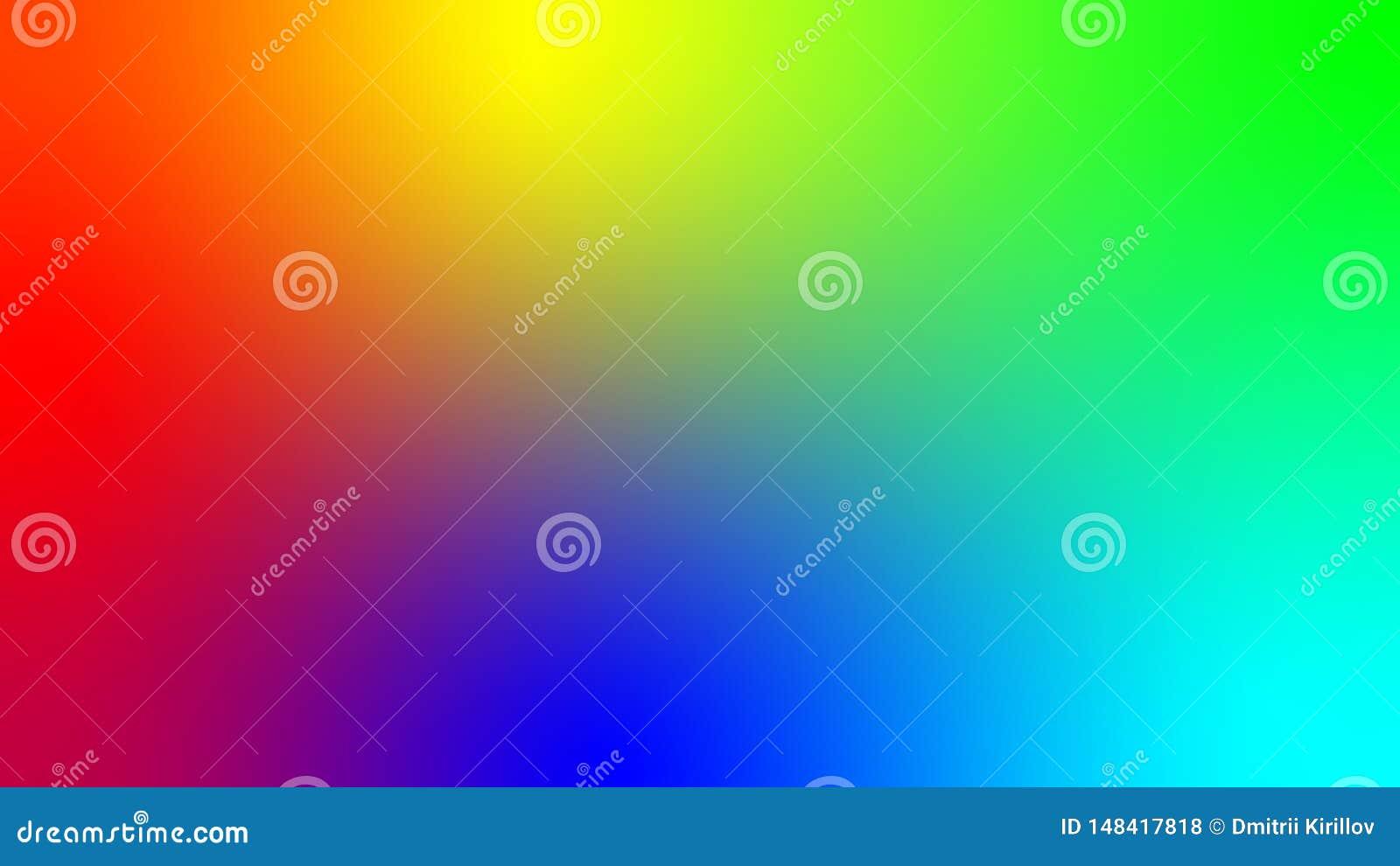描述彩虹的所有颜色和其余他们可能的选择的传染媒介例证 E 一光滑
