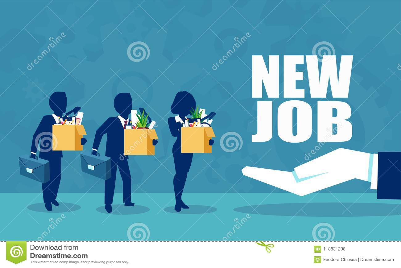 提供一个新的工作机会的一个公司上司的传染媒介为雇员