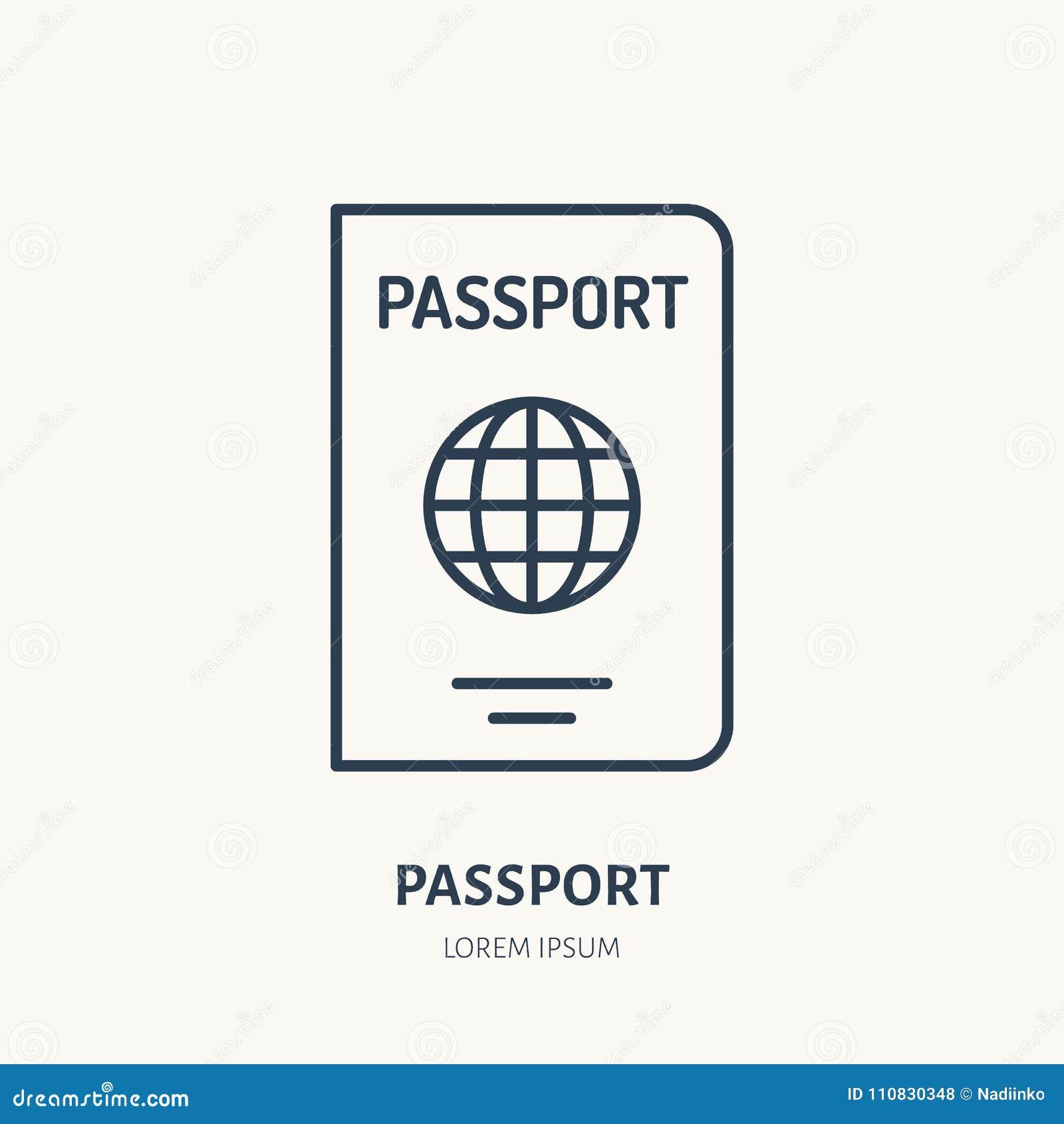 提供身分传染媒介平的线象 护照标志