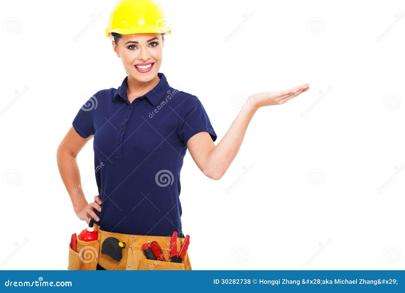 女性建造者提出