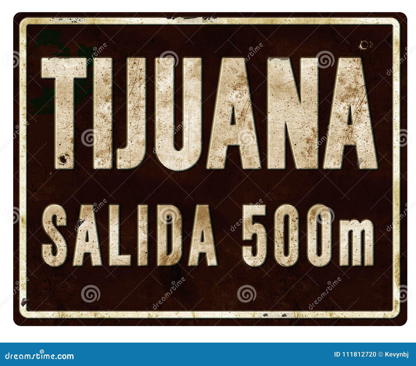 提华纳市区范围标志Salada