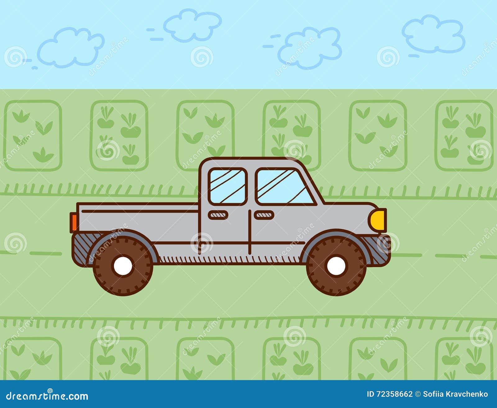 提取汽车 也corel凹道例证向量