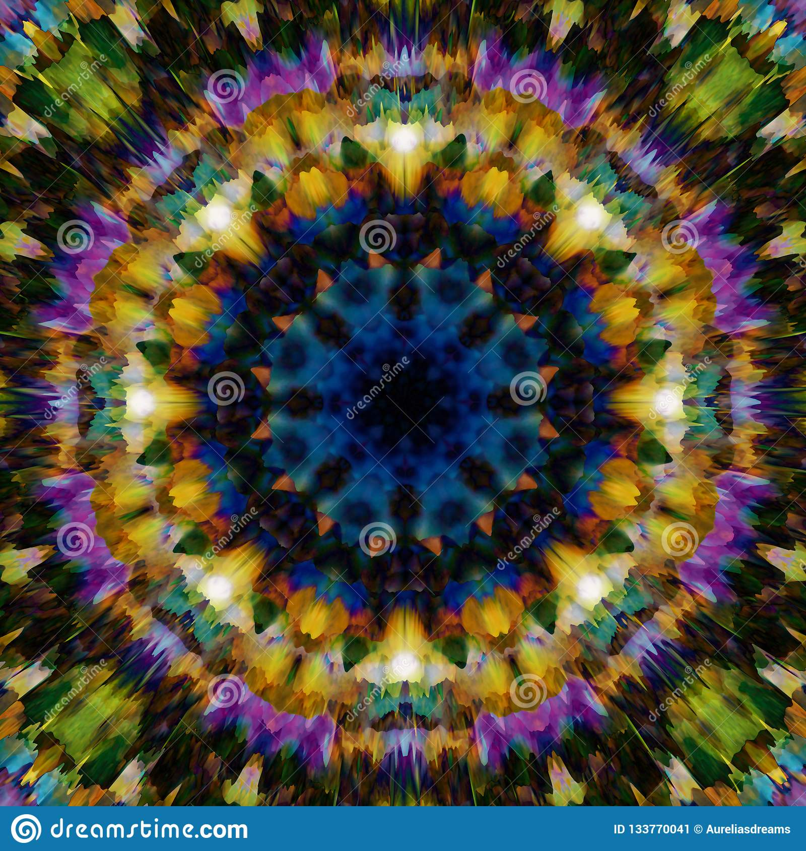 提取花卉背景 幻想种族样式 五颜六色的万花筒纹理 装饰坛场装饰品