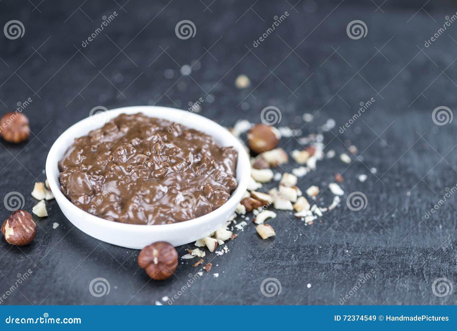 提名与巧克力奶油的部分的平板