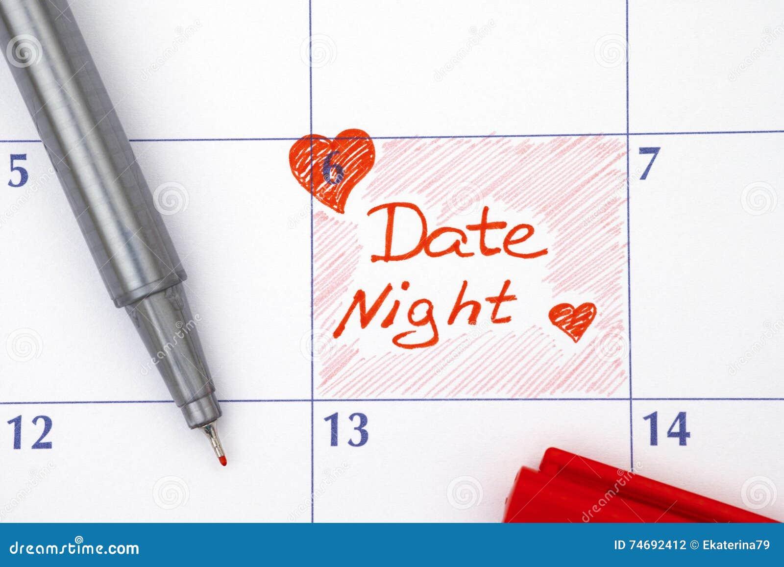 提示在日历的日期夜