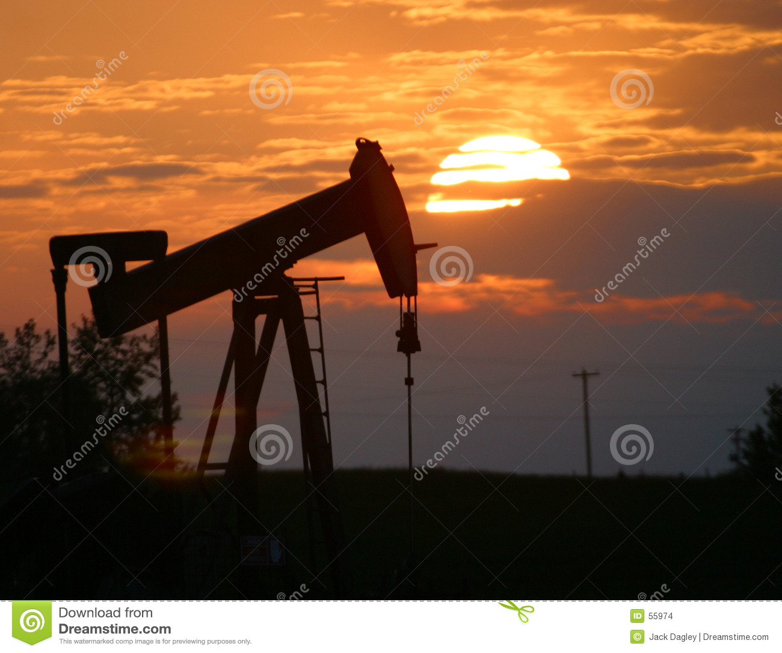 插孔油泵日落