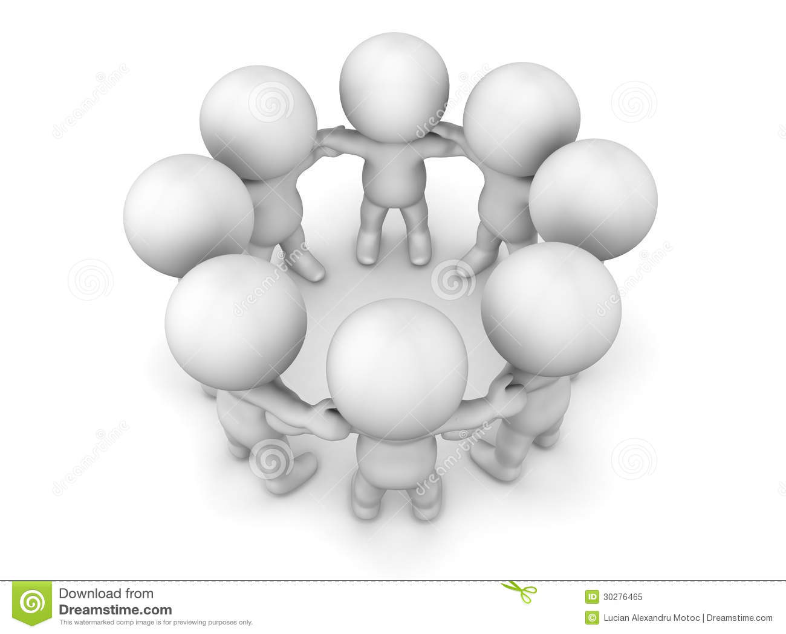 3D握在圈子配合概念的人手