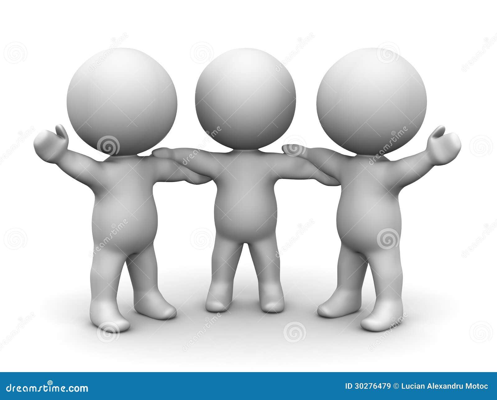 3D举行手配合概念的人