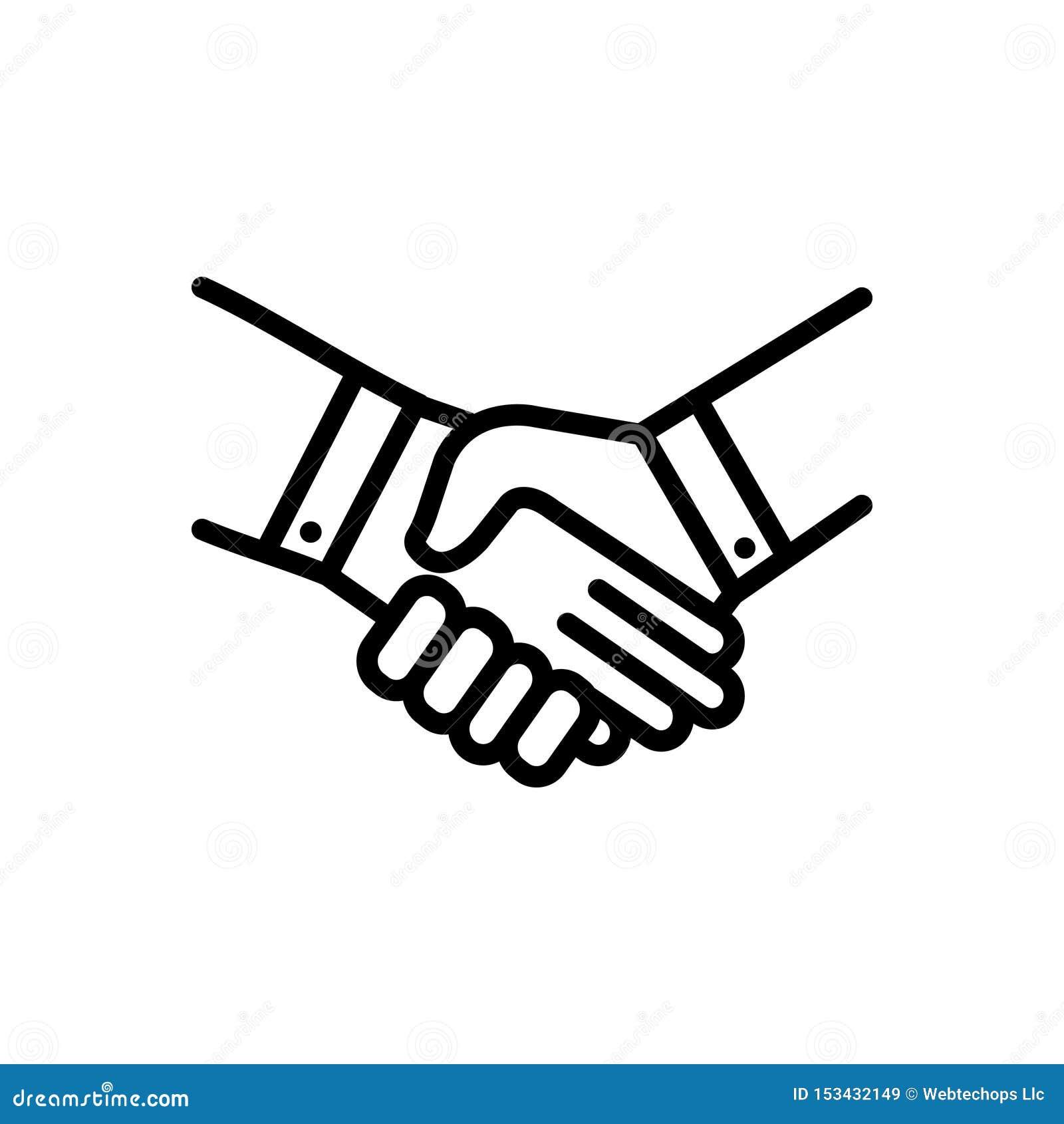 握手、成交和承诺的黑线象