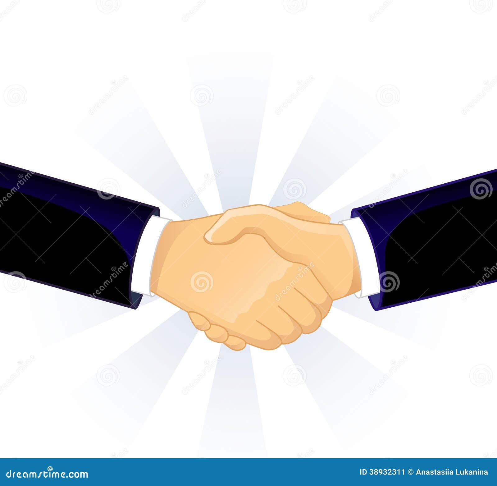 传染媒介例证(eps握手两人10).图片
