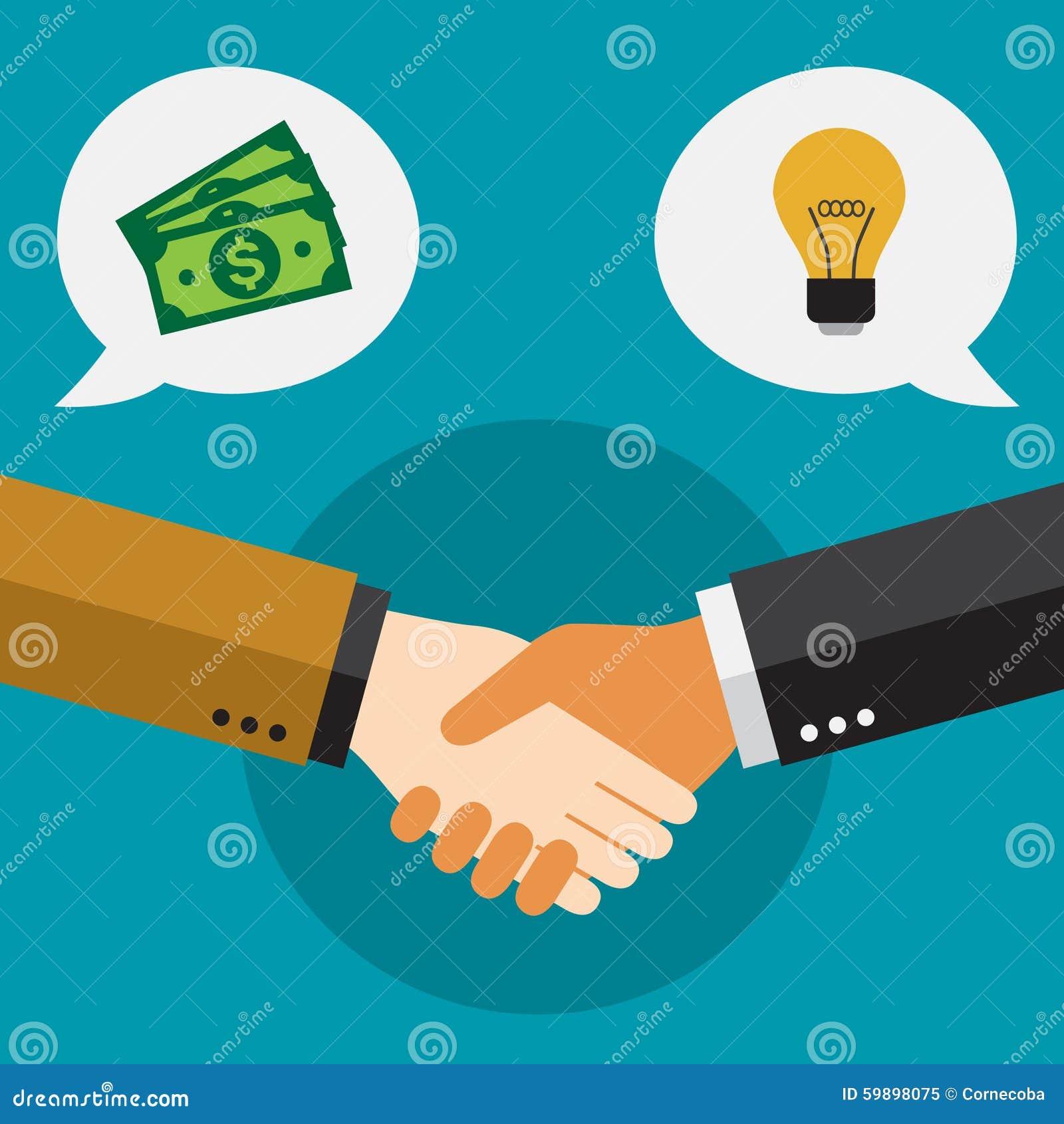握手和结束成交的商人