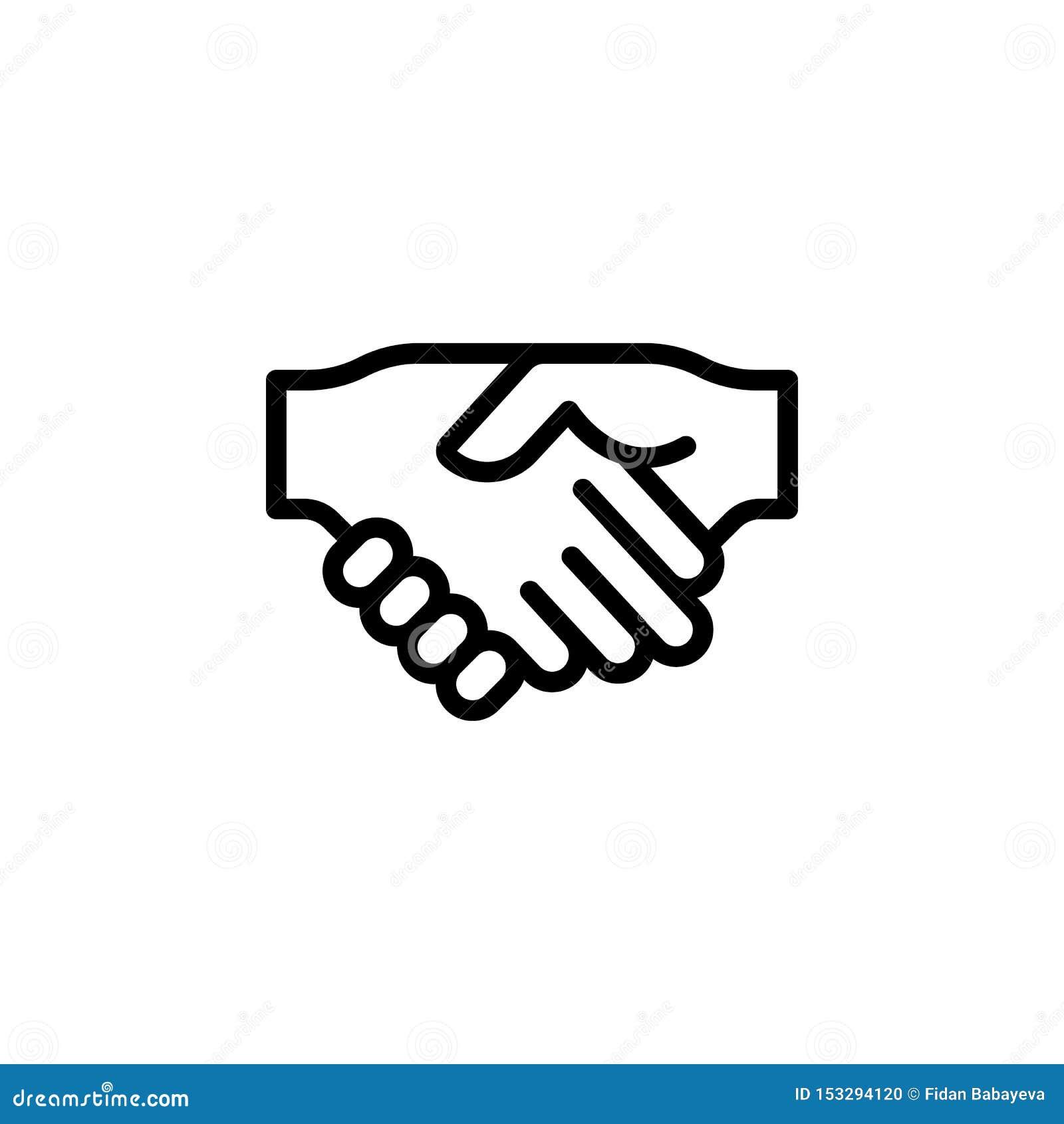 握手姿态概述象 手势例证象的元素 标志,标志可以为网,商标,流动应用程序使用,