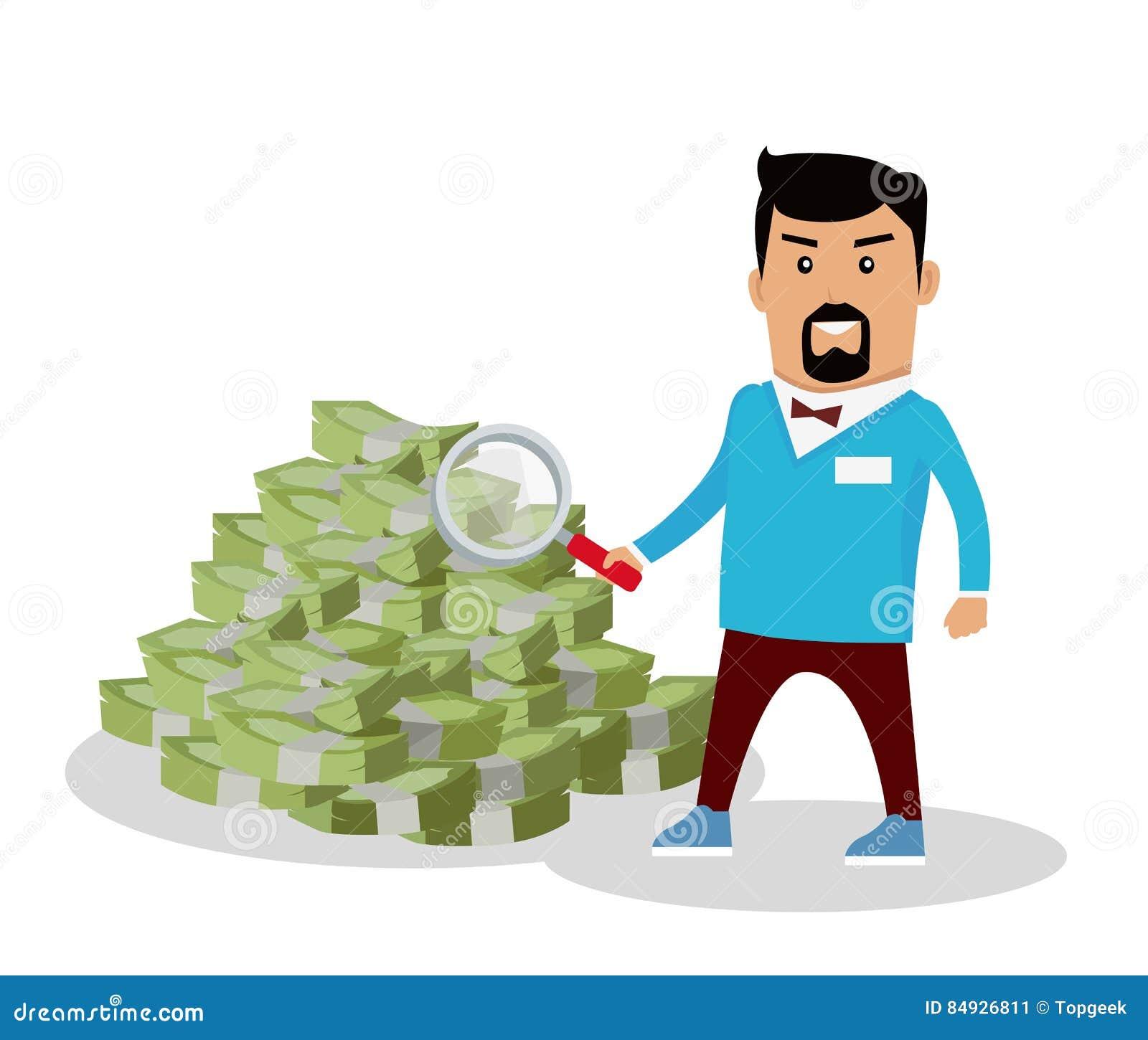 搜寻在平的设计的金钱概念传染媒介