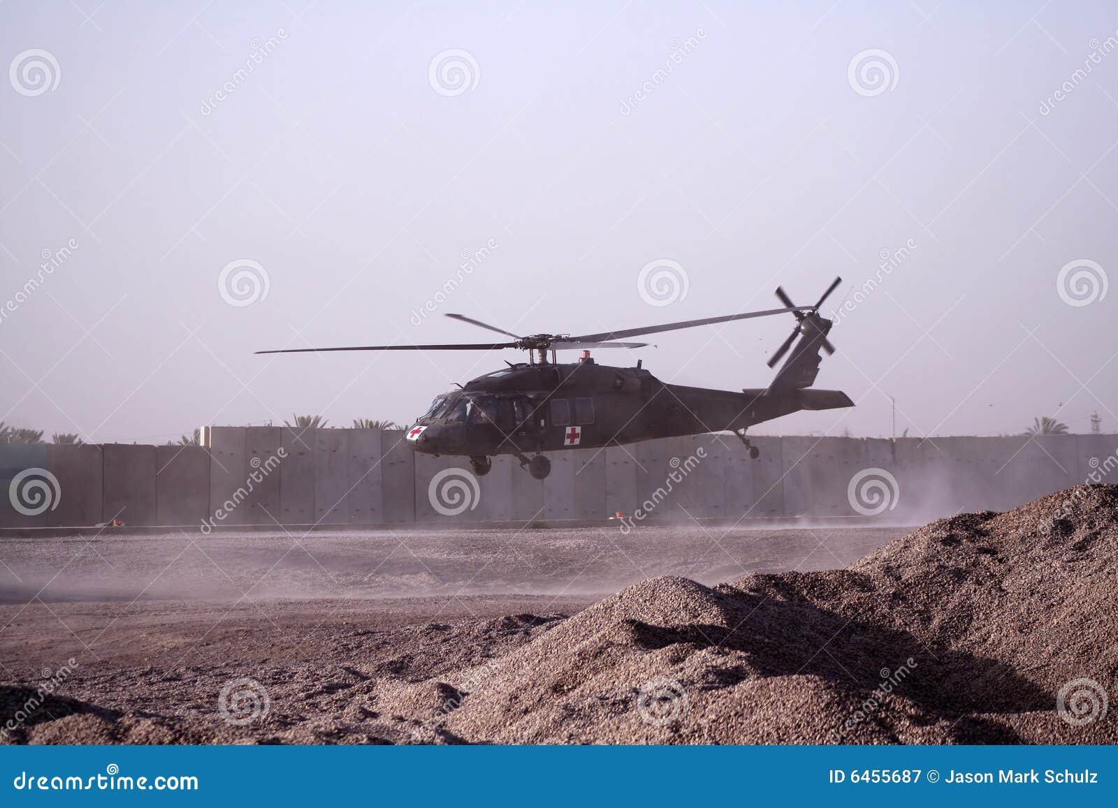 搬空直升机医疗的伊拉克