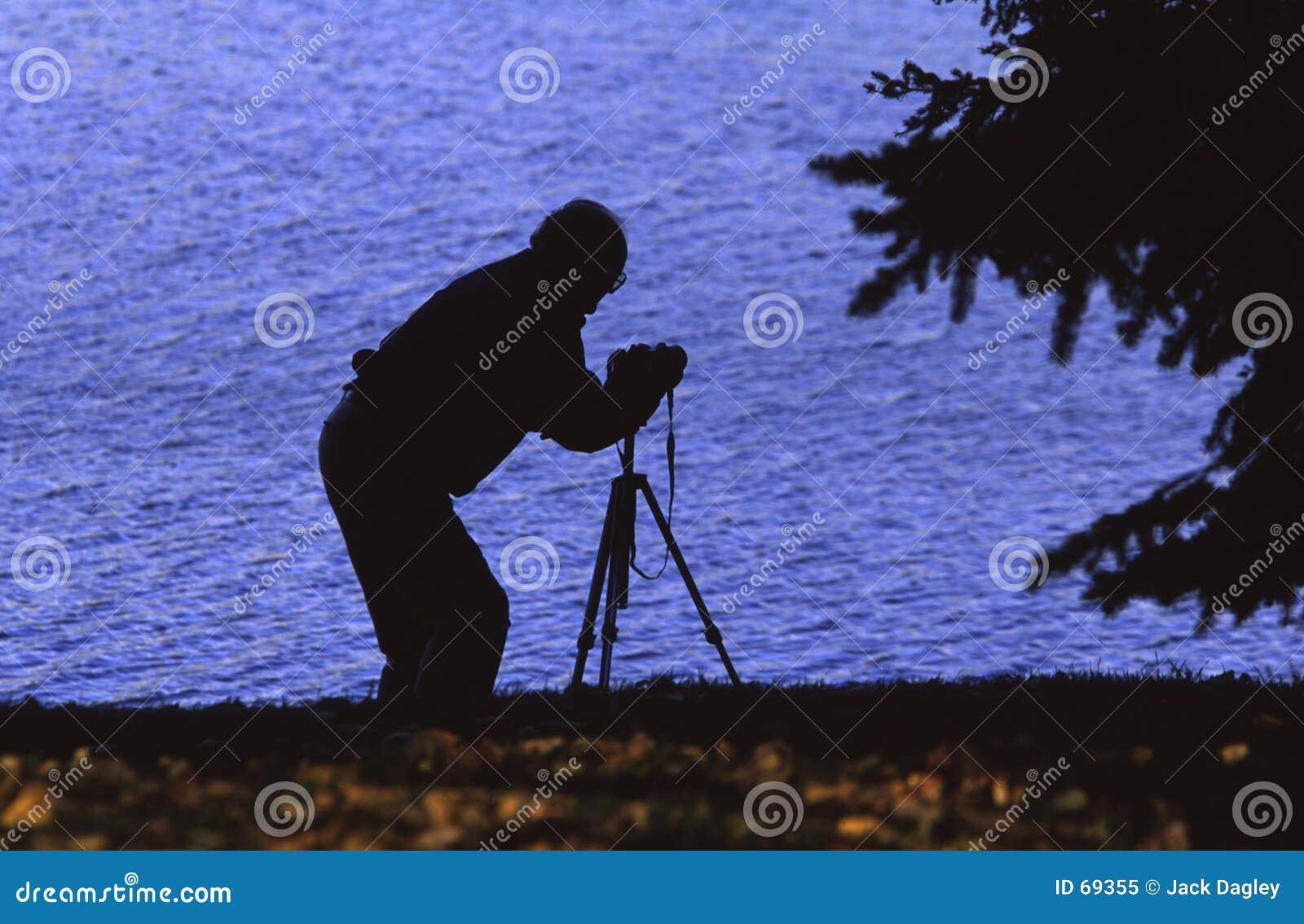 摄影师剪影