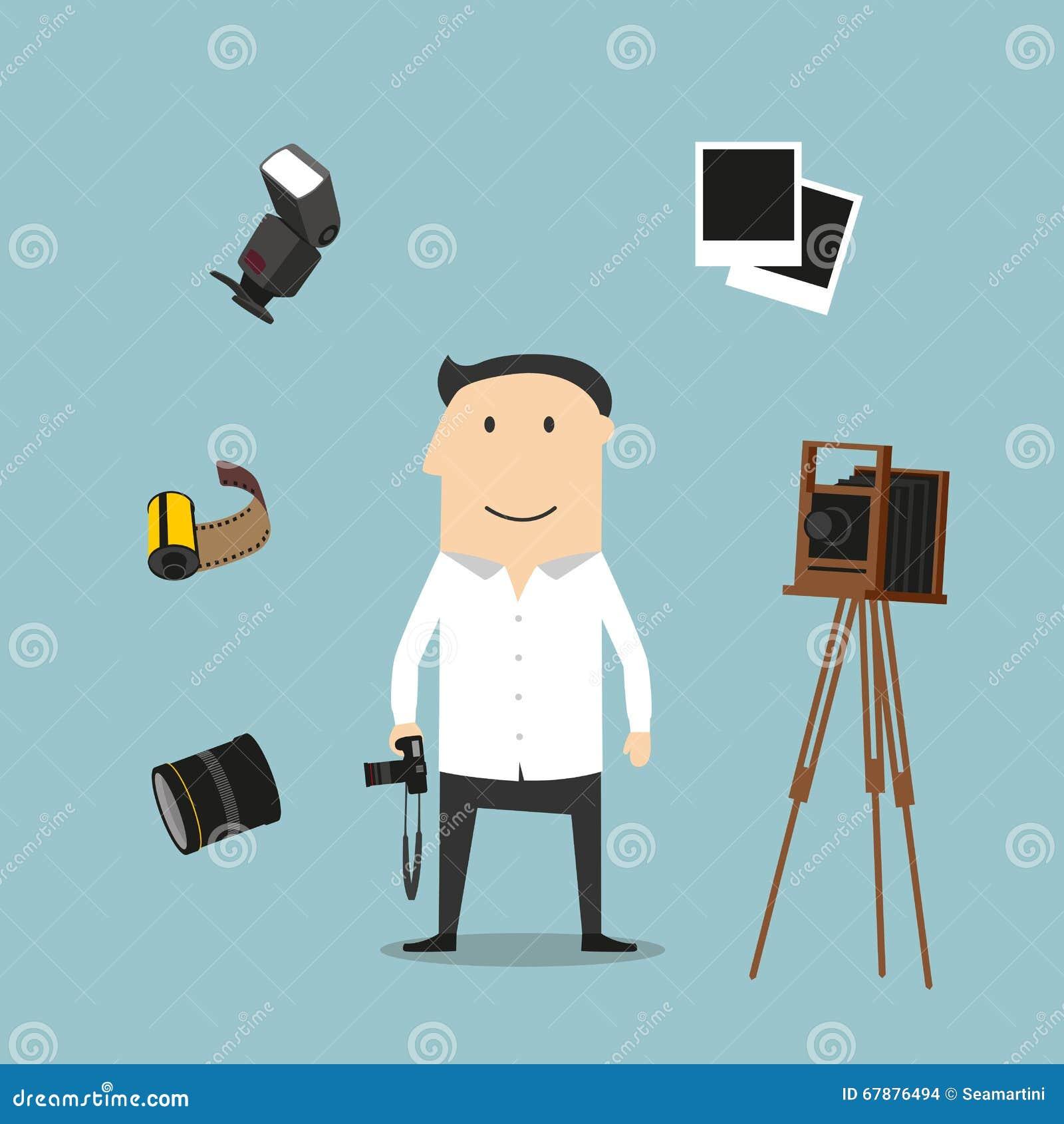 摄影师和摄影设备