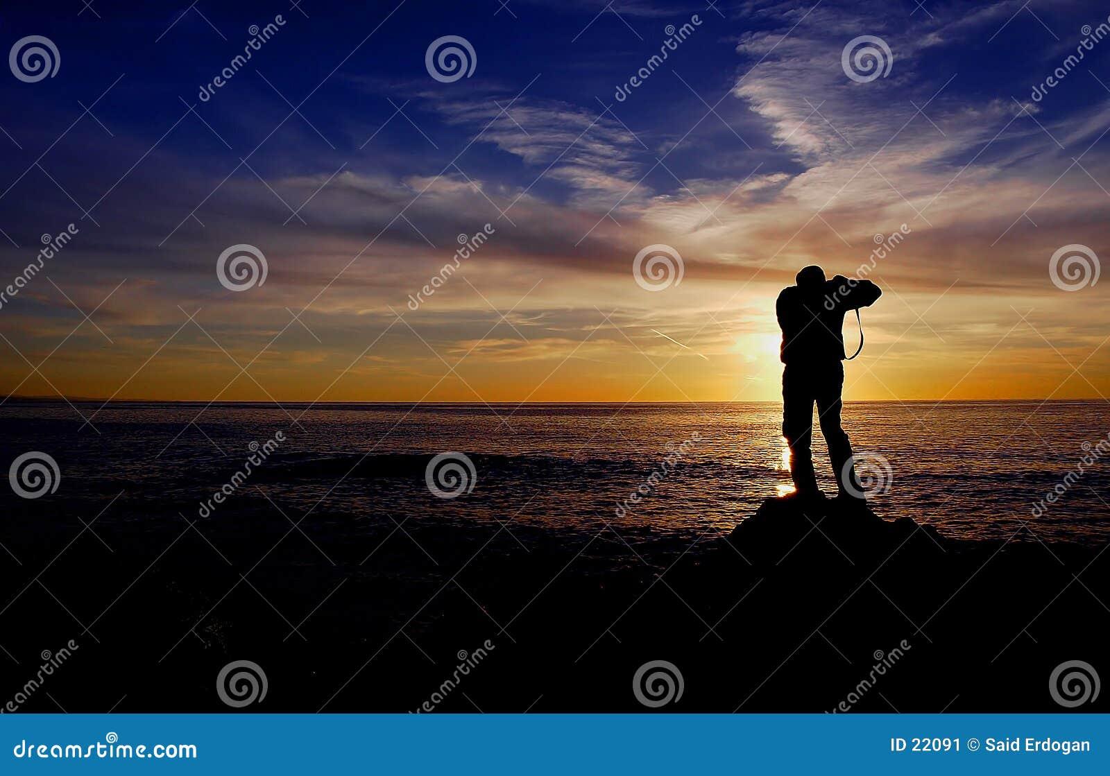 摄影师日落