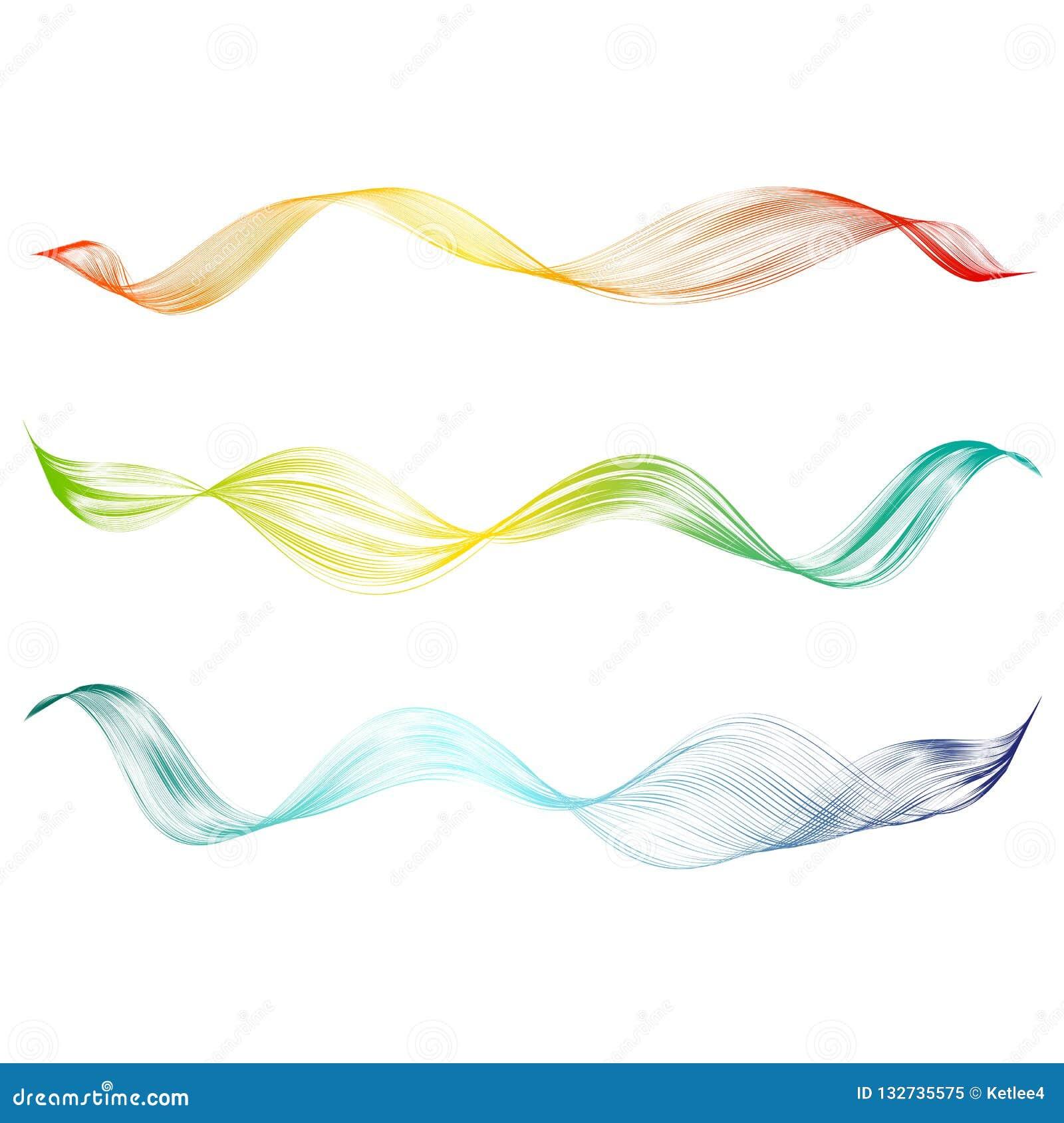 摘要光滑的弯曲的线与明亮的波浪种族分界线数字调平器仿效的设计元素技术背景