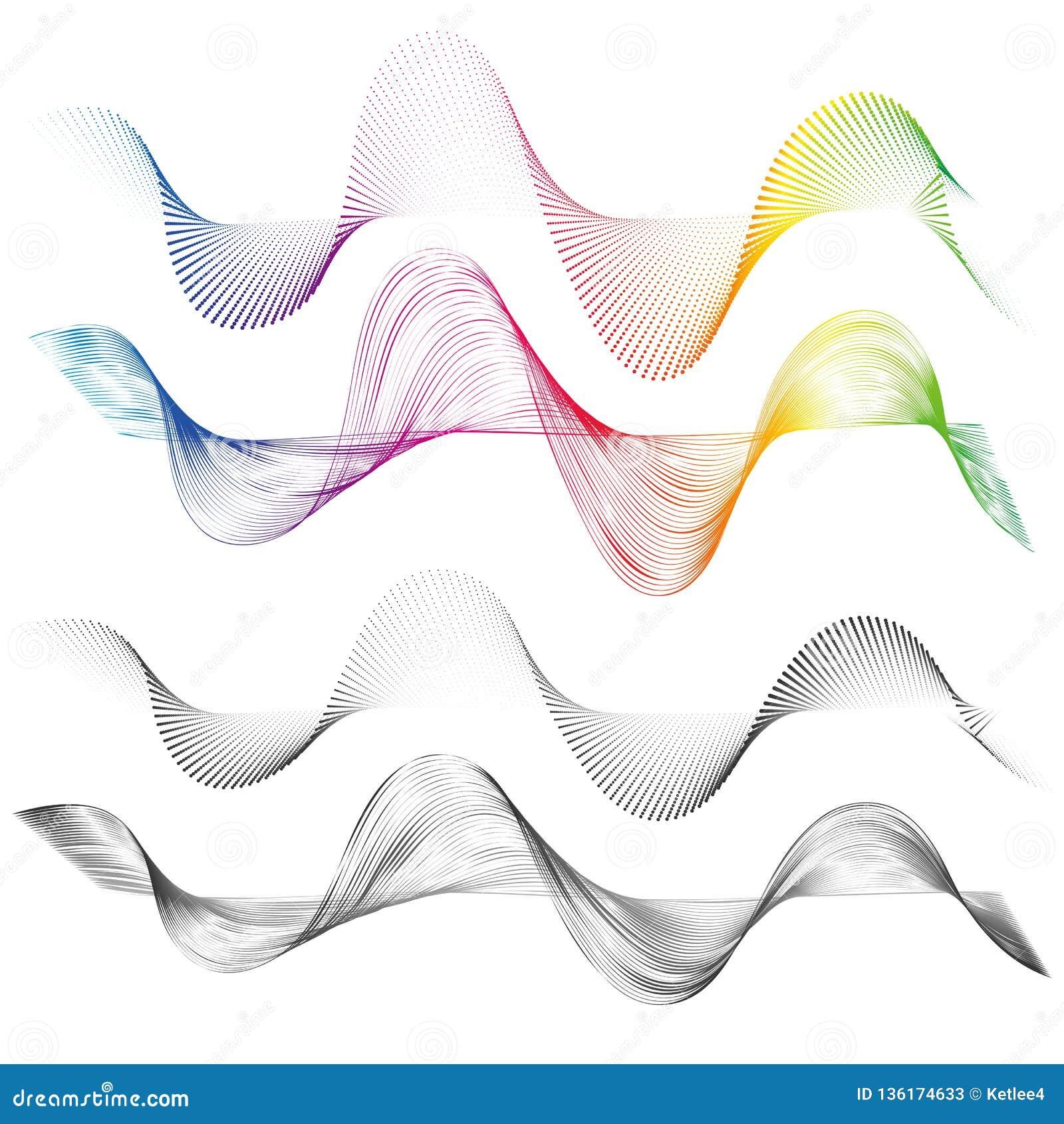 摘要光滑的弯曲的线设计与一条线的元素技术背景在波形形式仿效soundwave