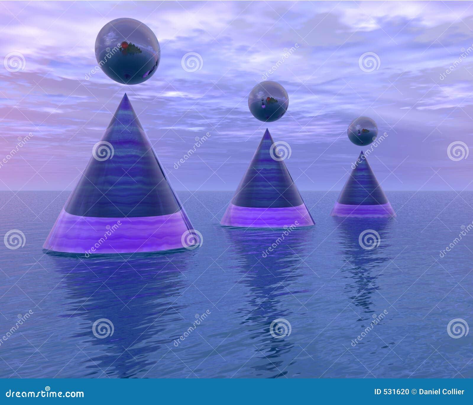 Download 摘要漂浮海运 库存例证. 插画 包括有 浮动, 地球, 多云, 锥体, 发运, 不可能, 折射, 海运, 蓝色 - 531620