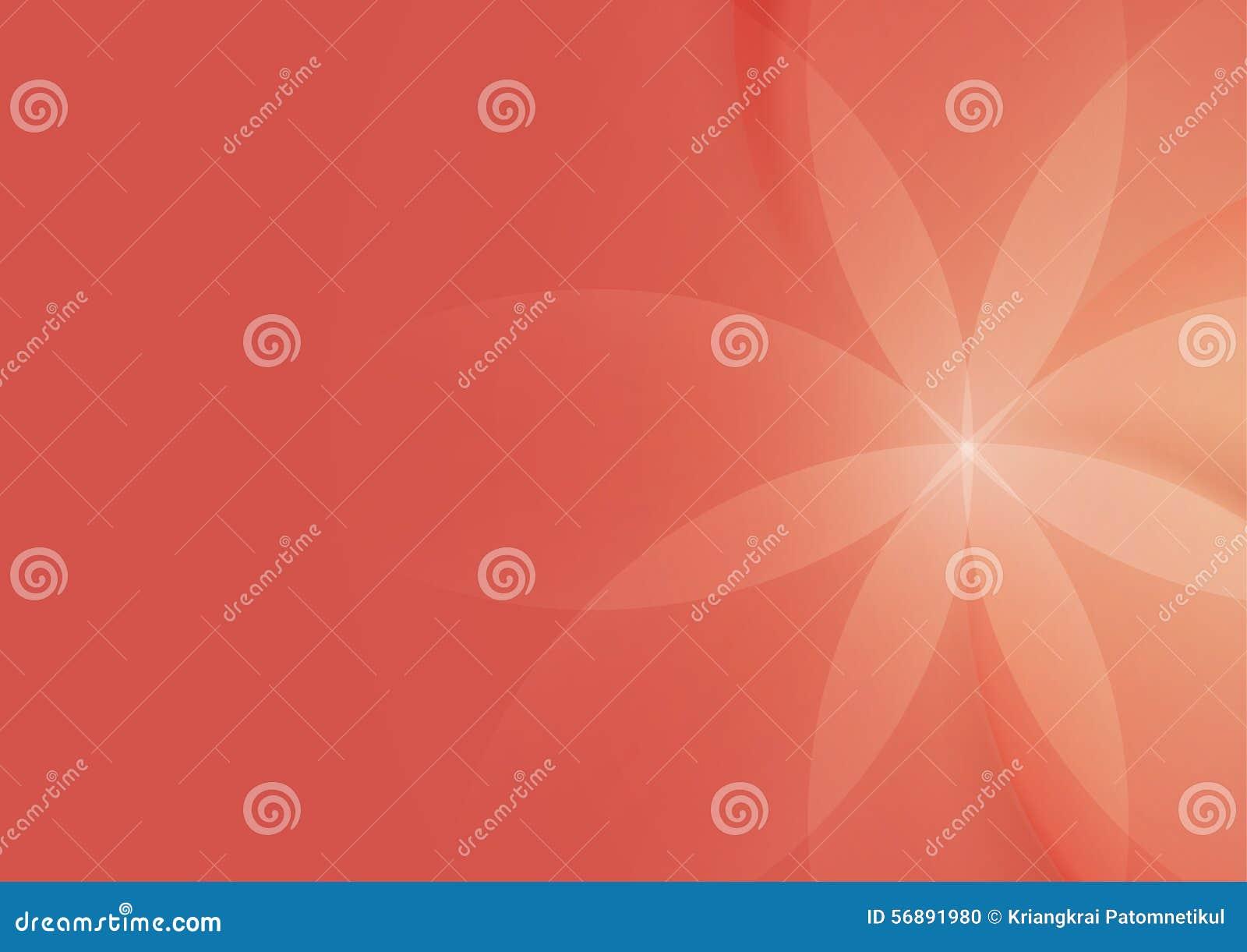 摘要花卉在橙红色背景