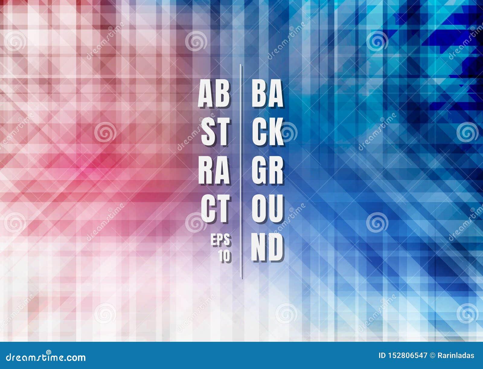 摘要镶边几何五颜六色的蓝色和红色重叠的背景技术样式