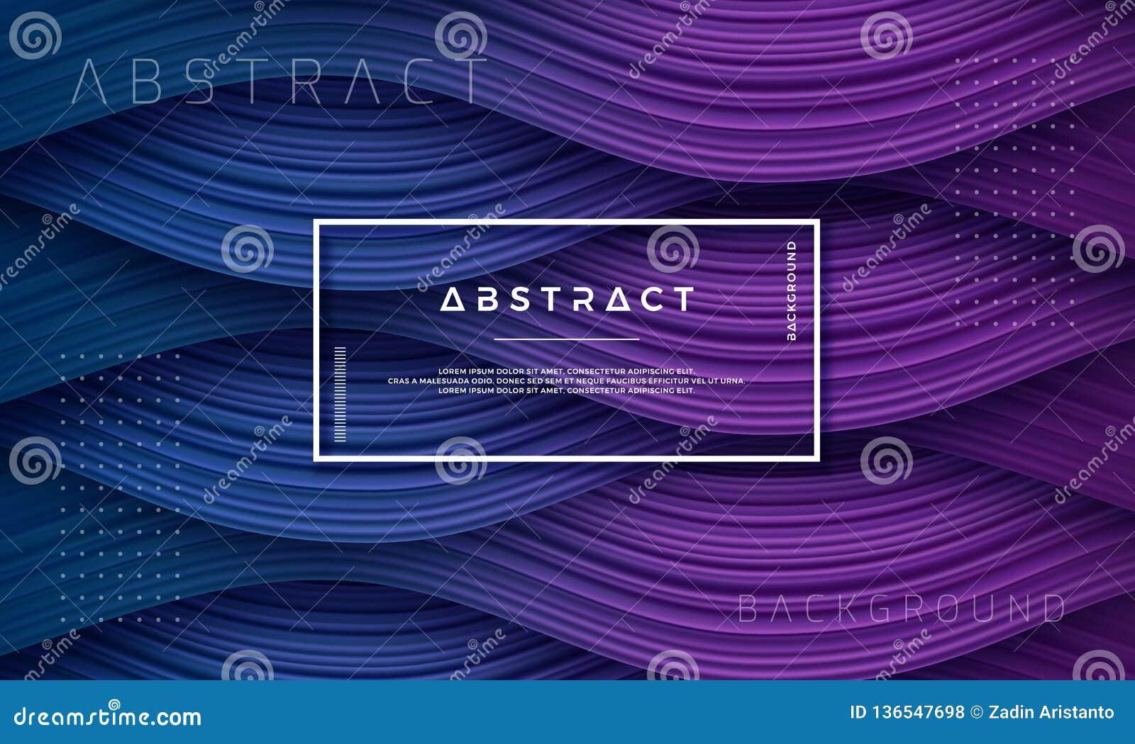摘要,动态和织地不很细紫色,深蓝背景您的设计元素的和其他