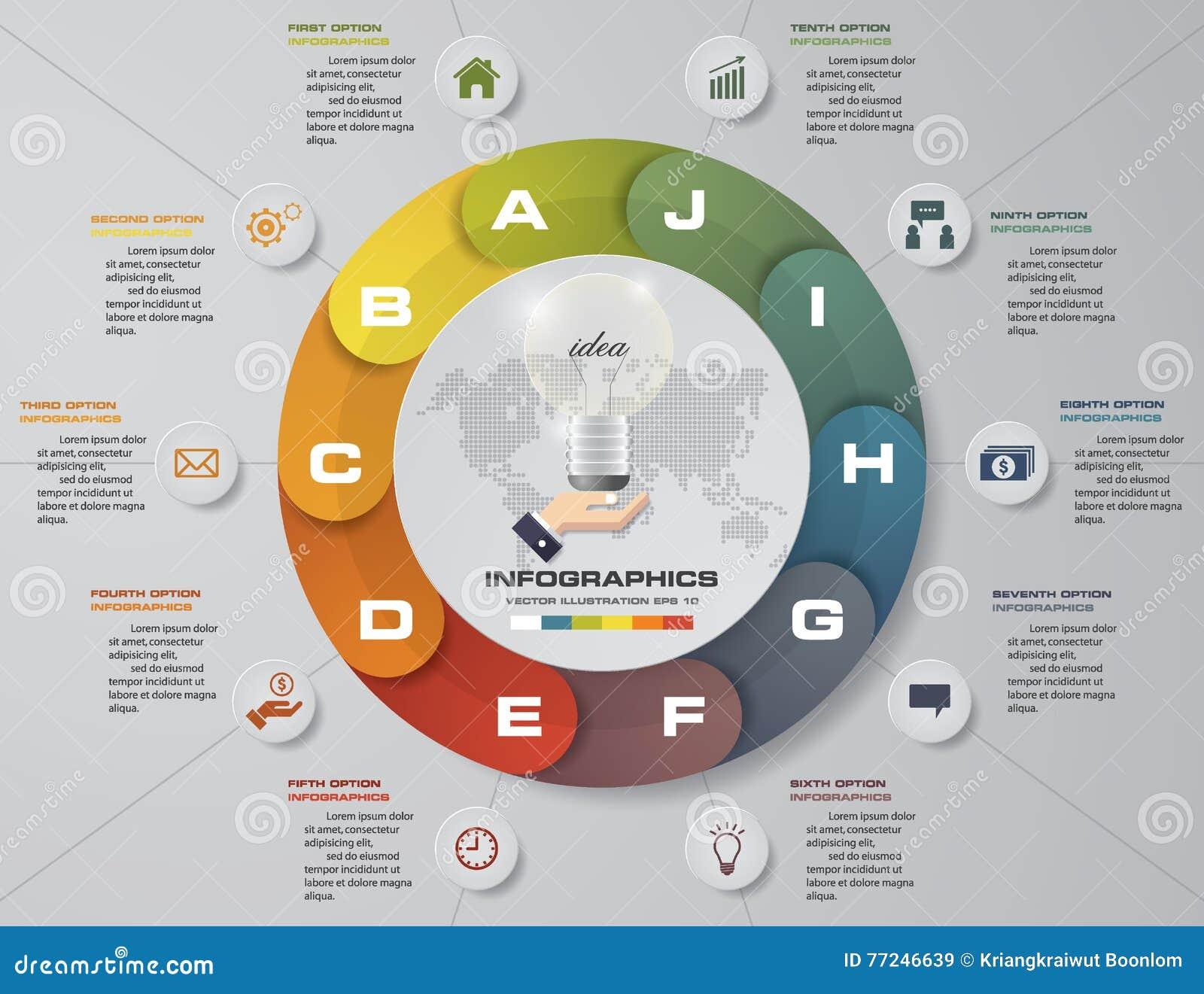 摘要10步企业介绍模板 设计干净的数字横幅模板
