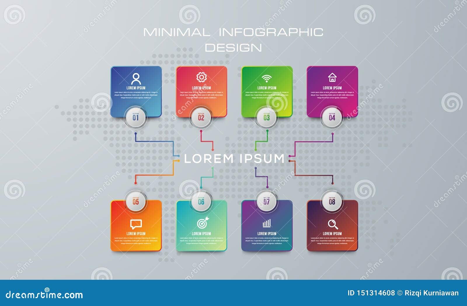 摘要3D数字例证Infographic 使用为工作流布局,图,数字选择,网络设计 o
