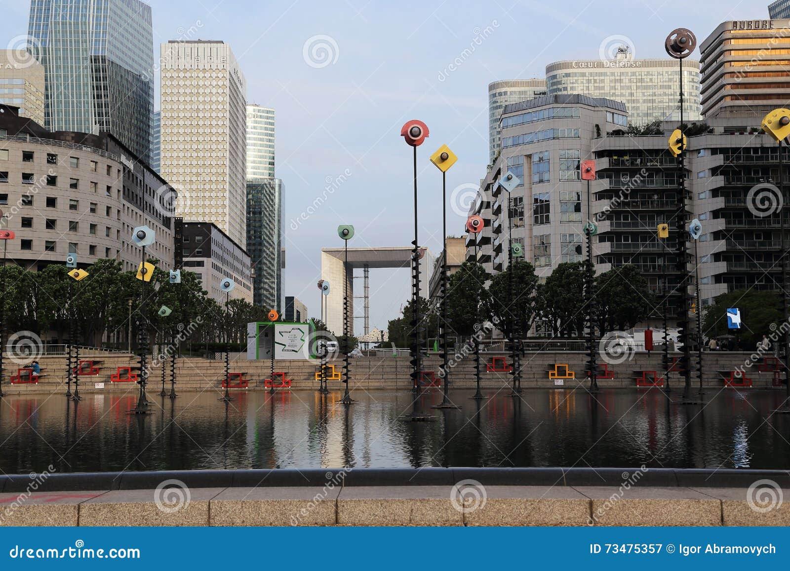 摩天大楼在巴黎- La Defanse