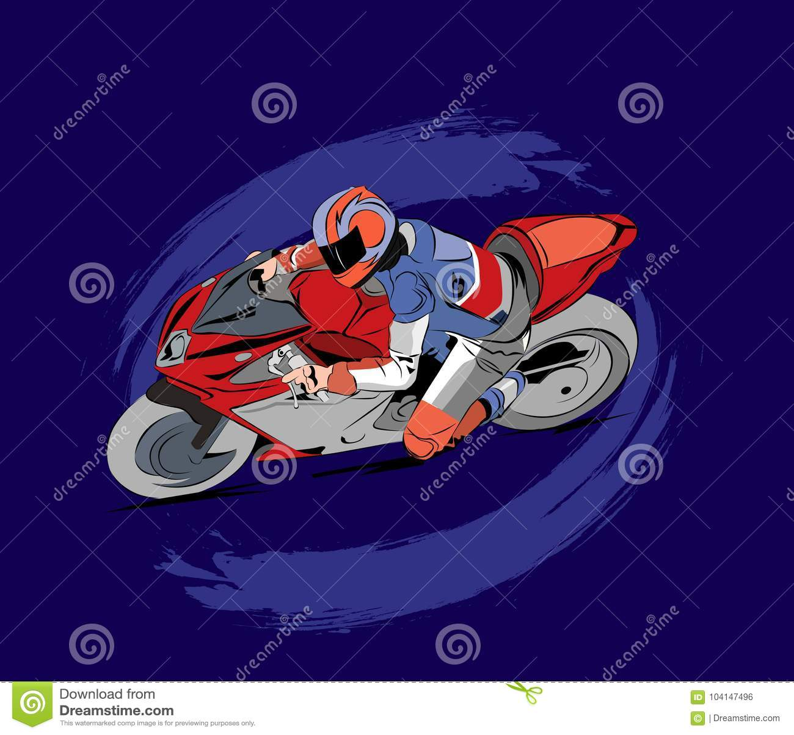 摩托车在传染媒介的种族例证