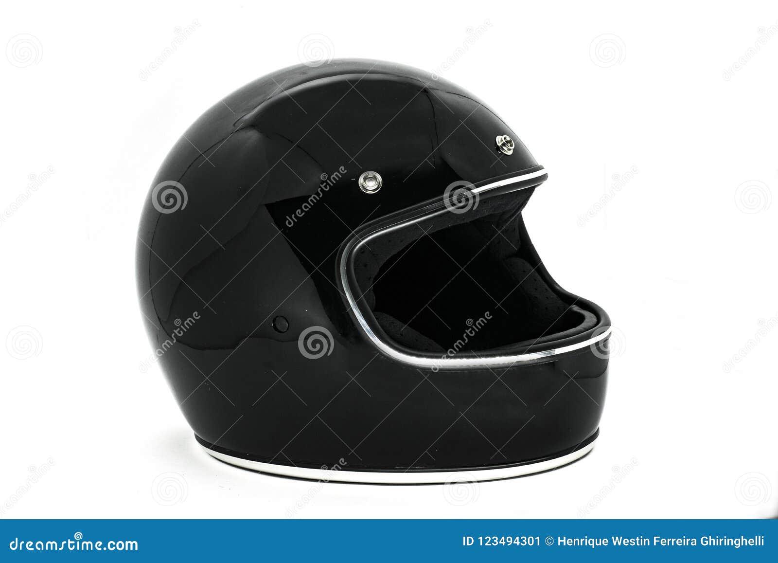 摩托车盔甲的侧视图