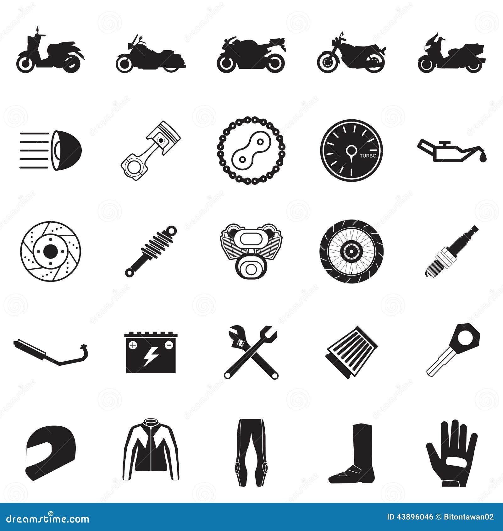 摩托车零件和项目集合