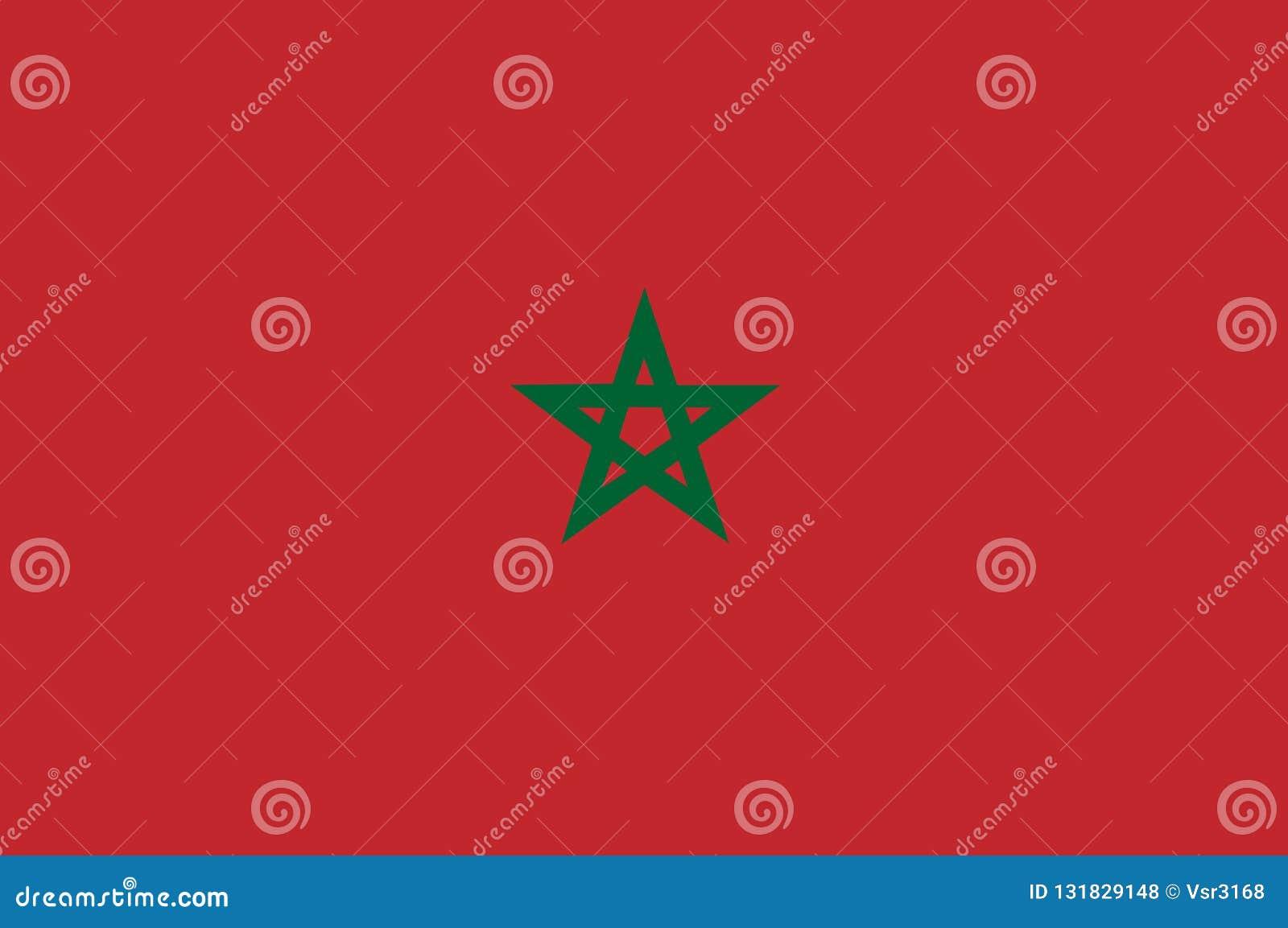 摩洛哥的国旗 与摩洛哥的旗子的背景