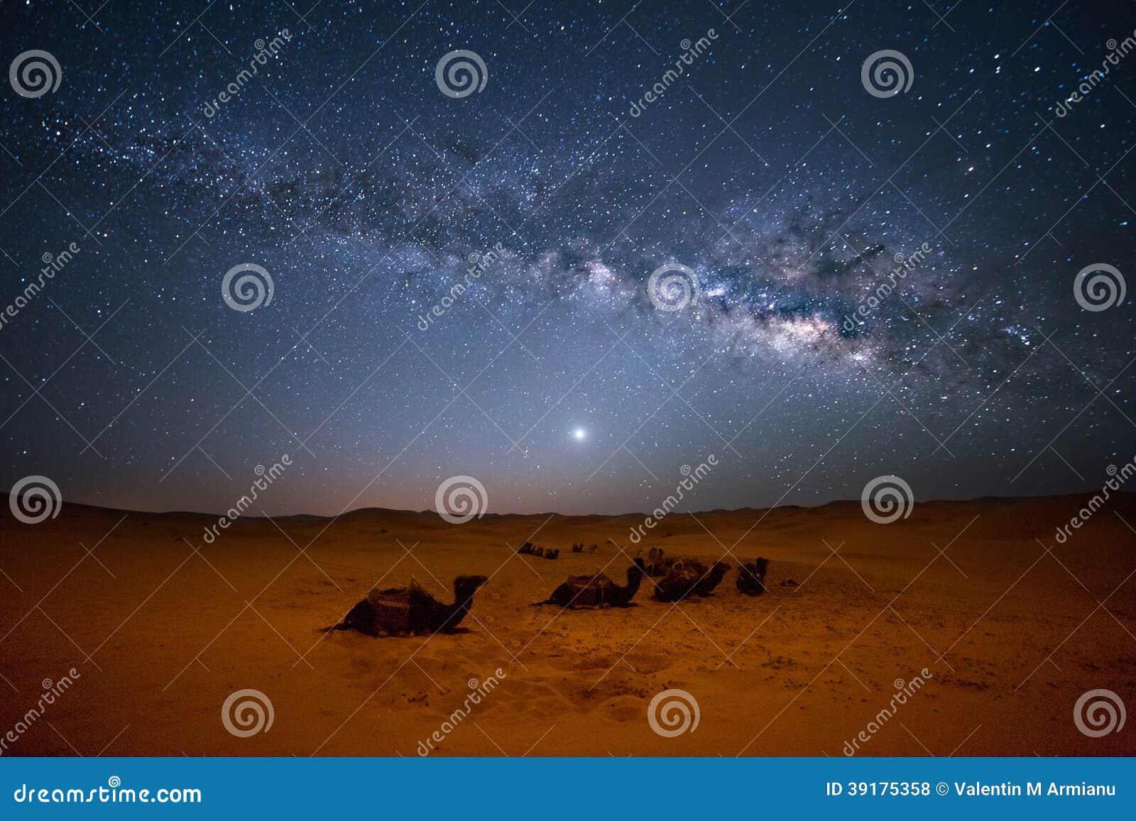 撒哈拉大沙漠银河