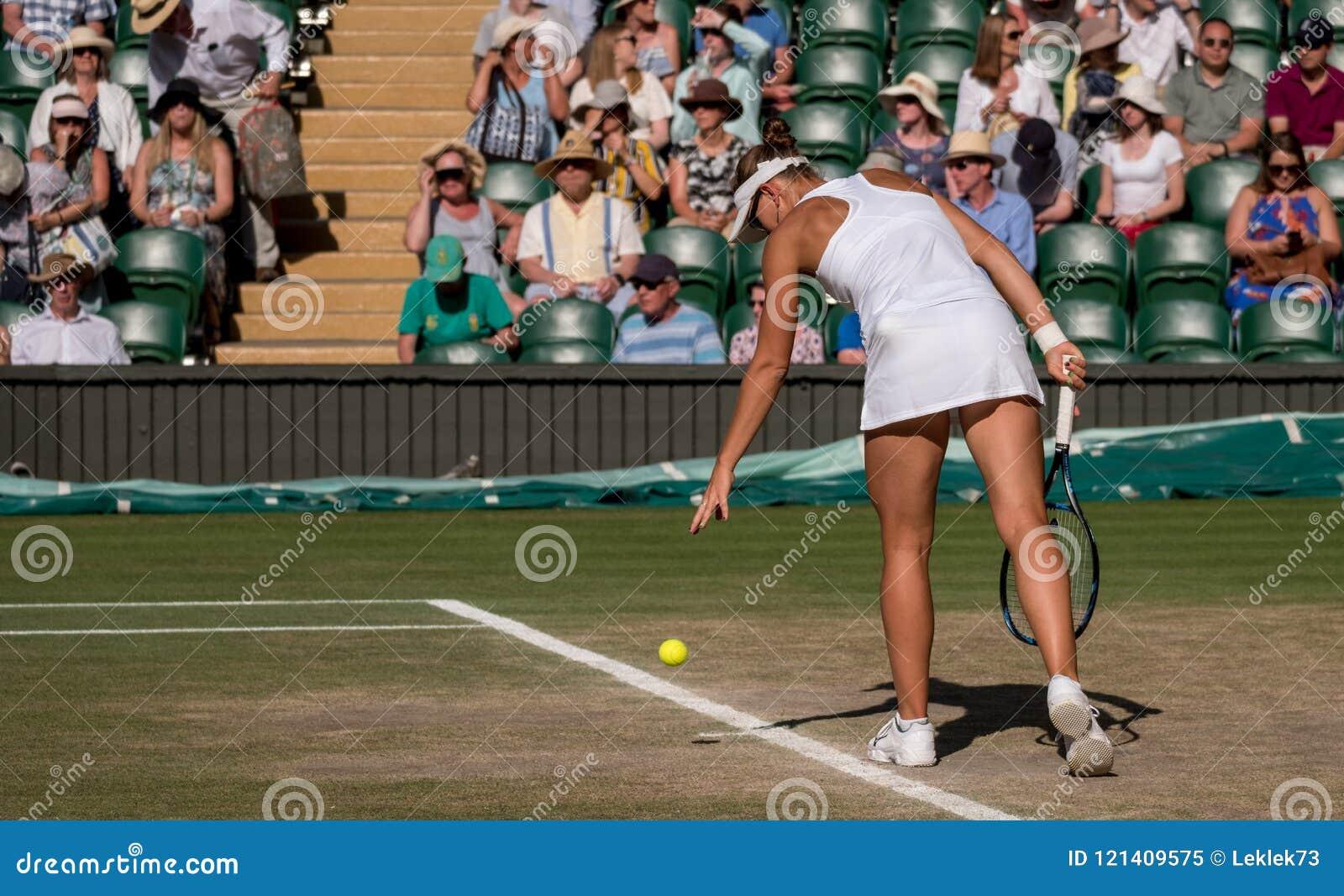 播放混双的维多利亚・阿扎伦卡最后在中心法院, Wimbledon