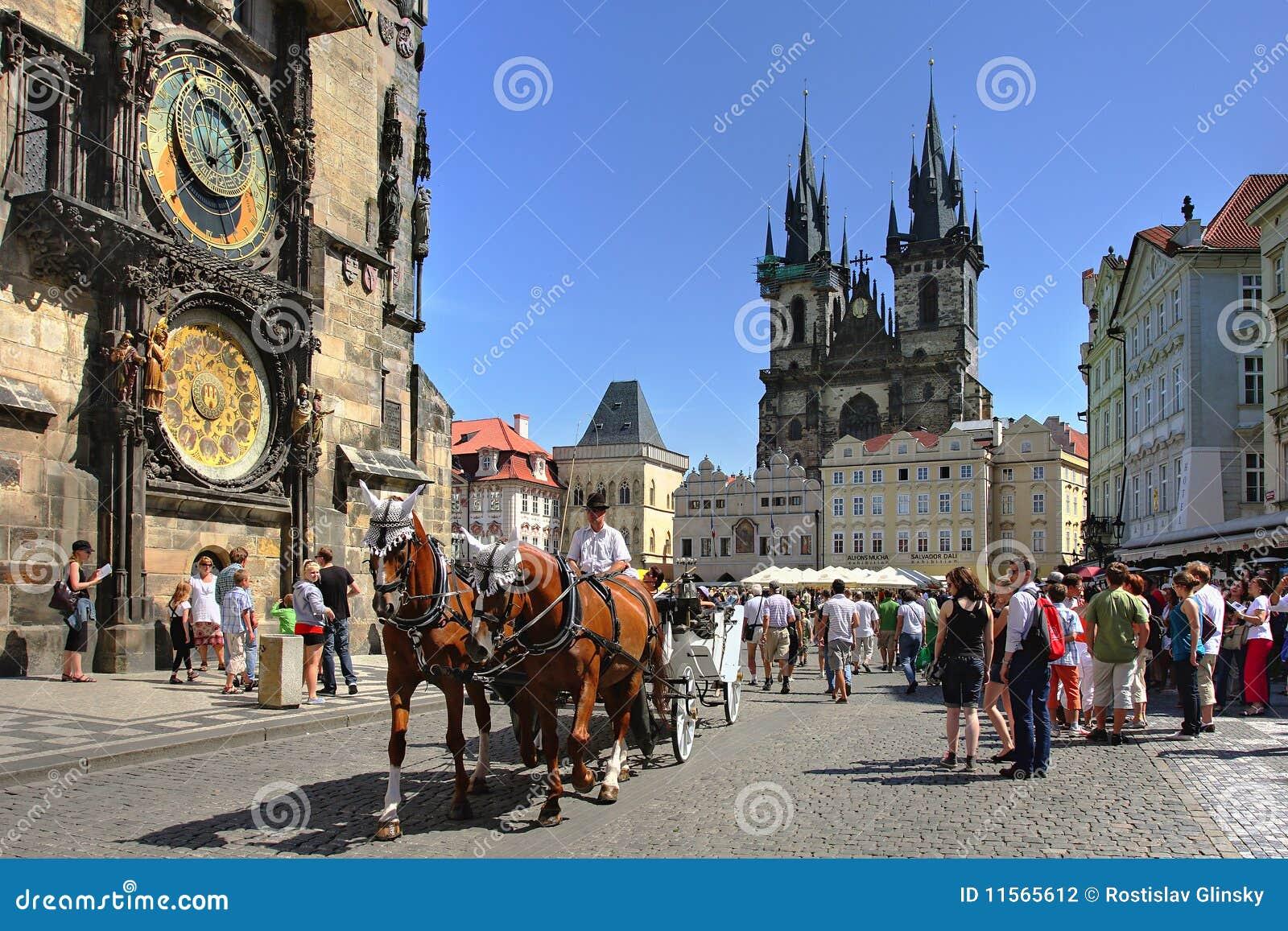 支架捷克布拉格共和国游人