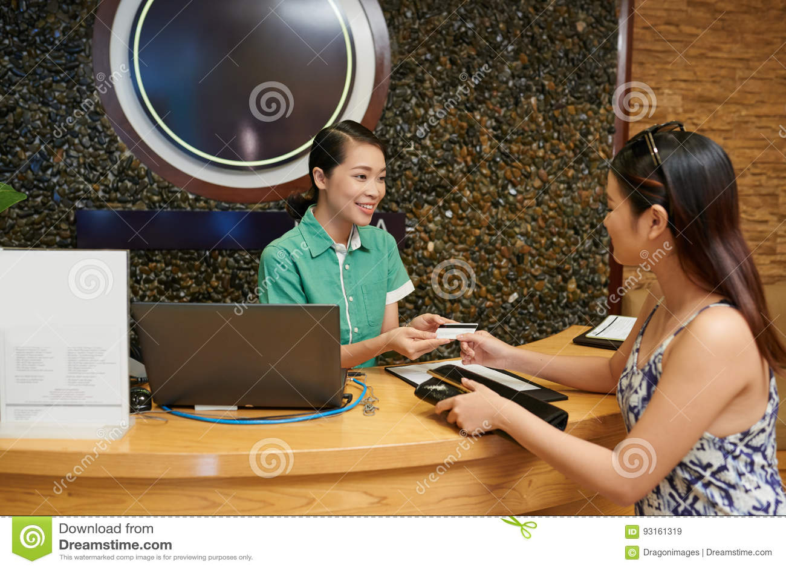支付与在温泉沙龙的信用卡