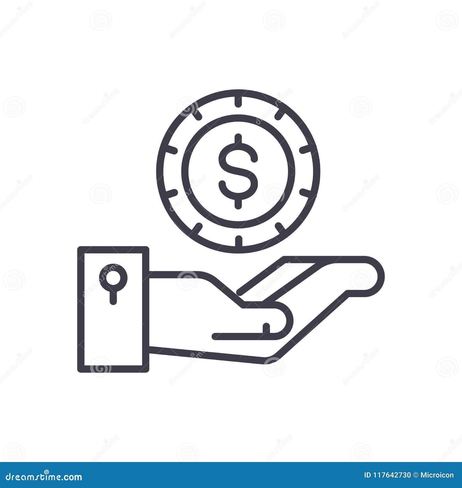 收支期望黑色象概念 收支期望平的传染媒介标志,标志,例证
