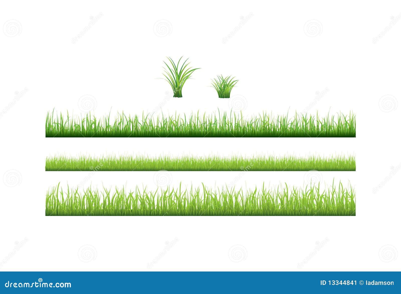 收集草绿色向量
