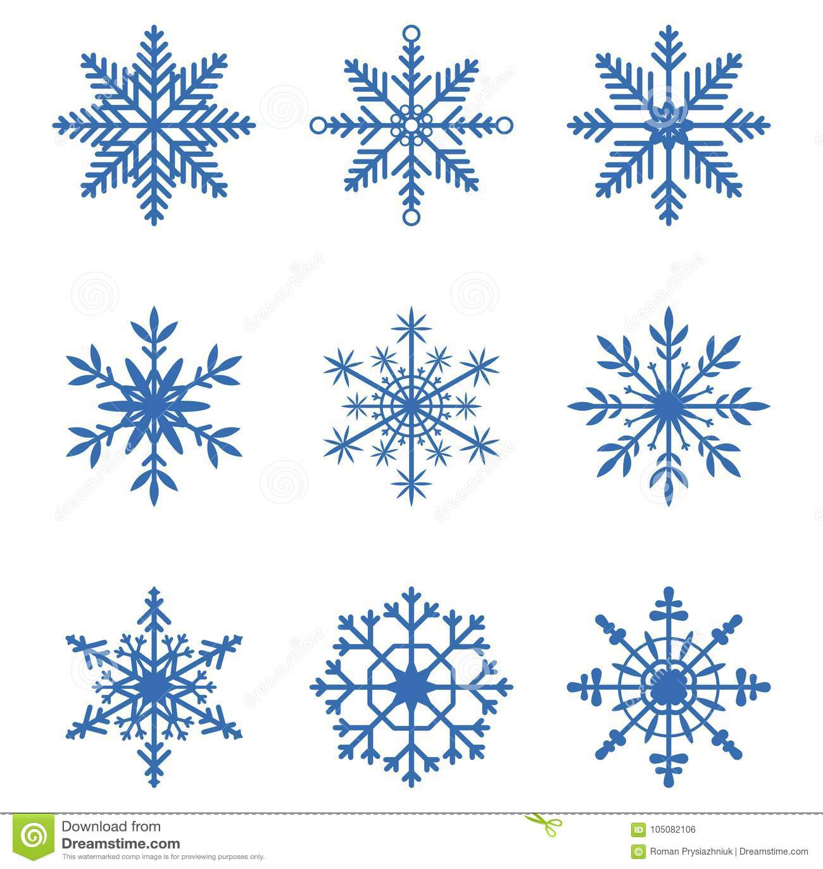 收集设计要素例证雪花向量 套雪象 冬天圣诞节横幅的装饰元素,新年卡片 向量
