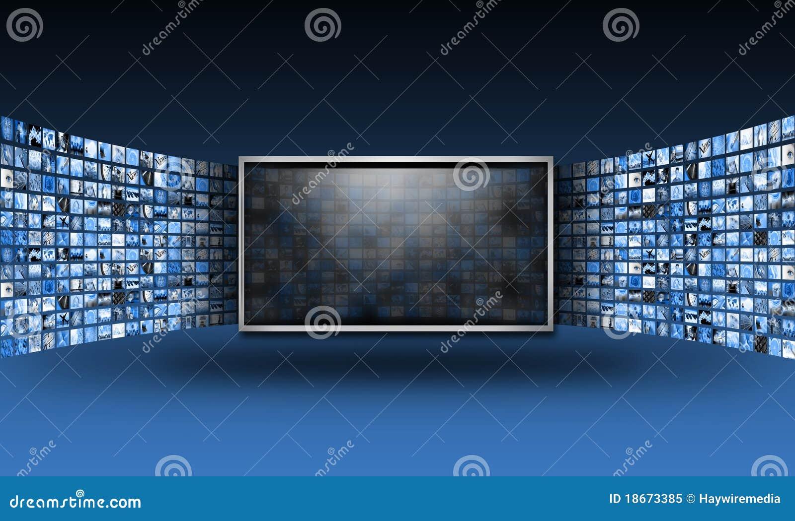 放出电视的平面的图象显示器屏幕