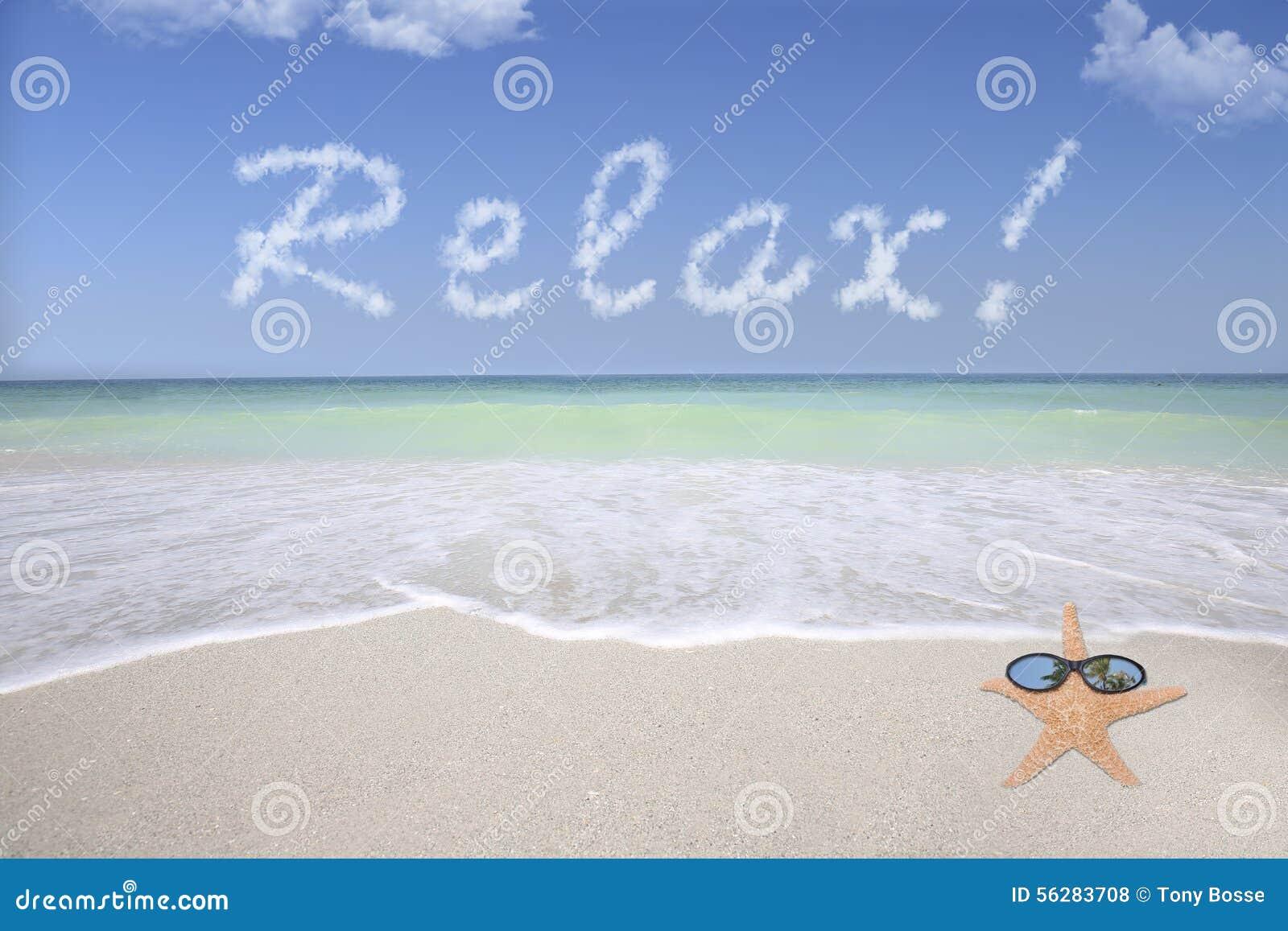 放松在海滩
