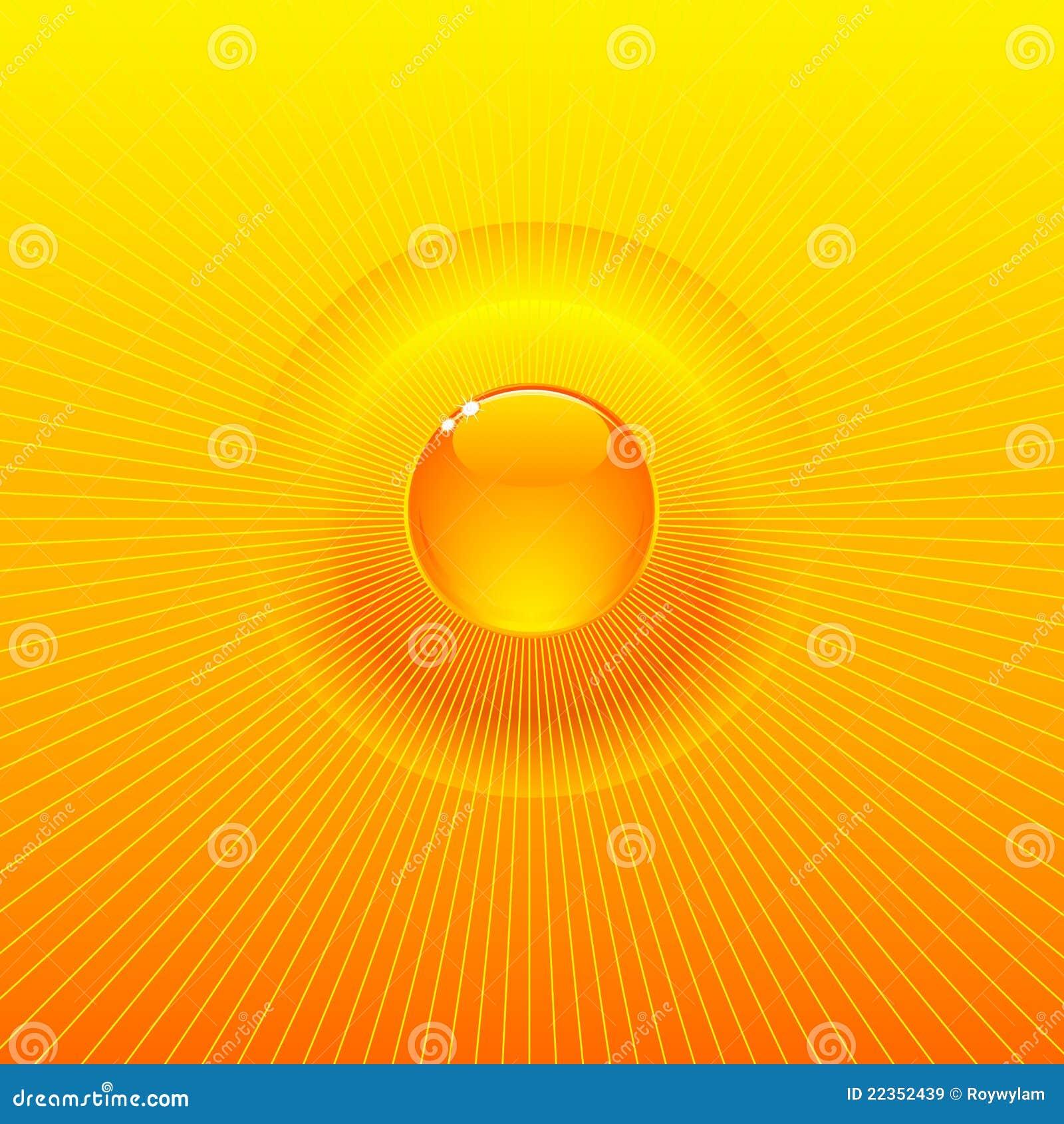 放热太阳晴朗的背景