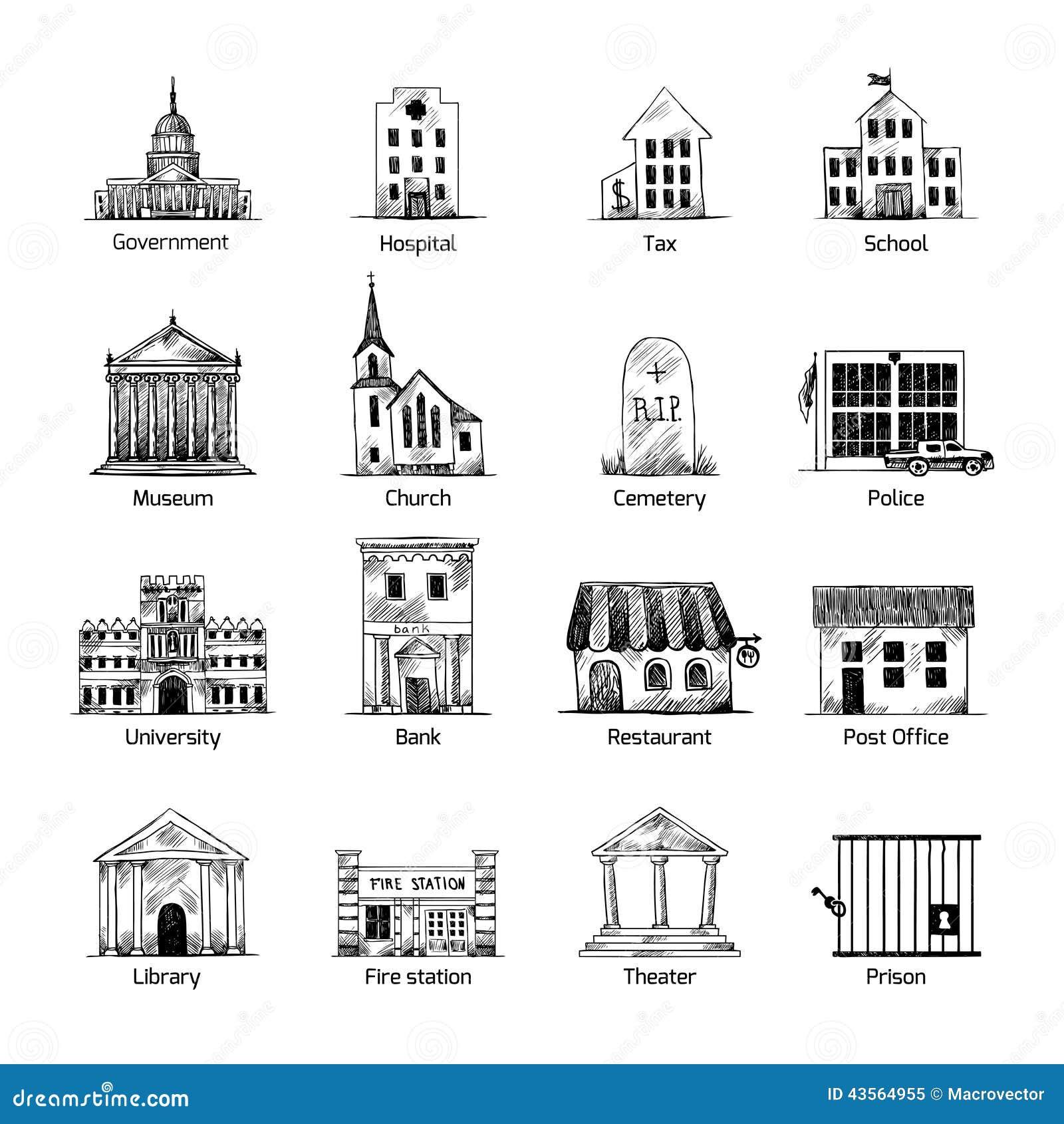 政府被设置的大厦象