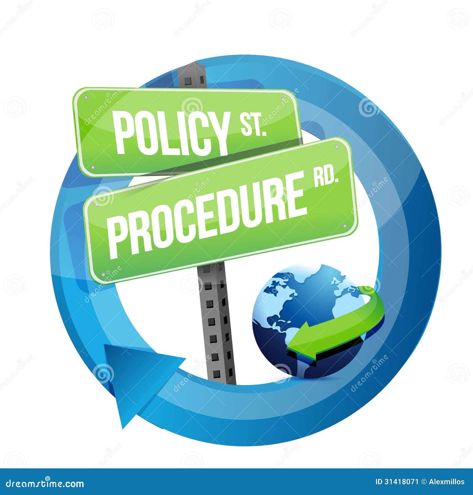 政策做法路标例证设计